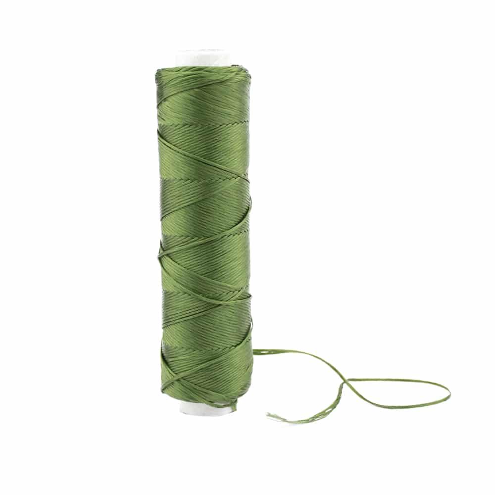 Bobina Hilo de seda verde medio