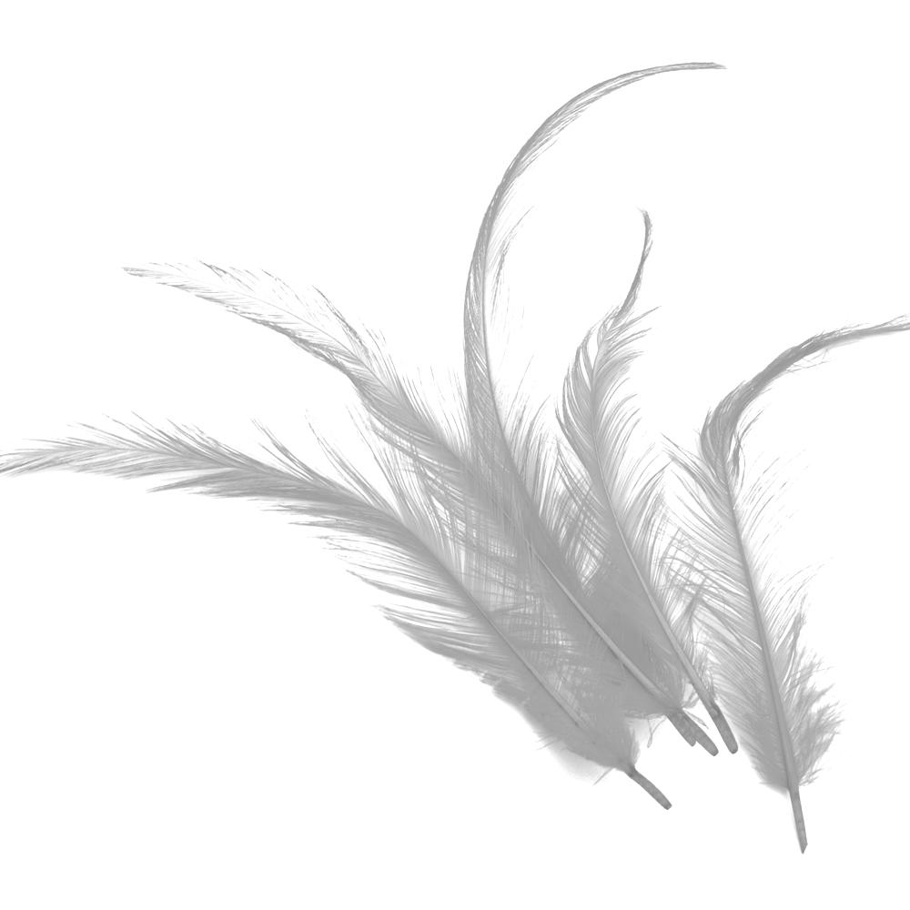 Bolsa Pluma Gallo quemada gris