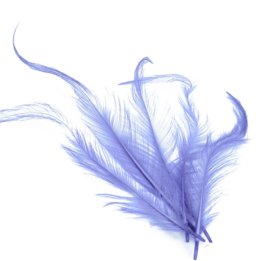 Bolsa Pluma Gallo quemada lila