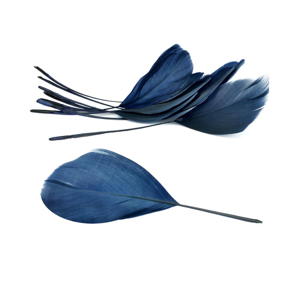 Bolsa plumas antena 15 cm azul marino