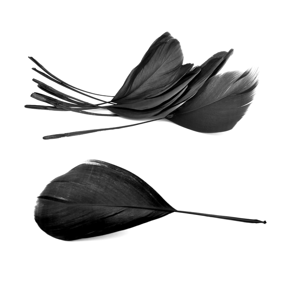 Bolsa plumas antena 15 cm negro