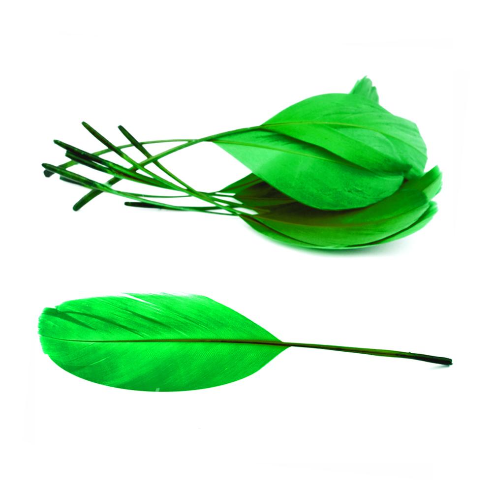 Bolsa plumas antena 15 cm verde jungla