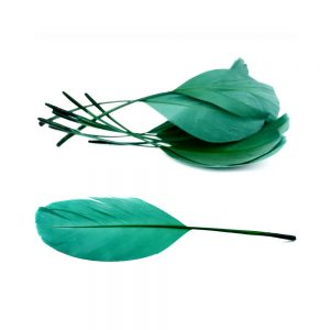 Bolsa plumas antena 15 cm verde mar oscuro