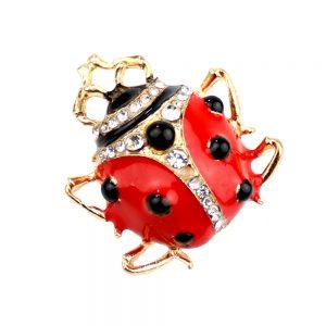 Broche Ladybug rojo