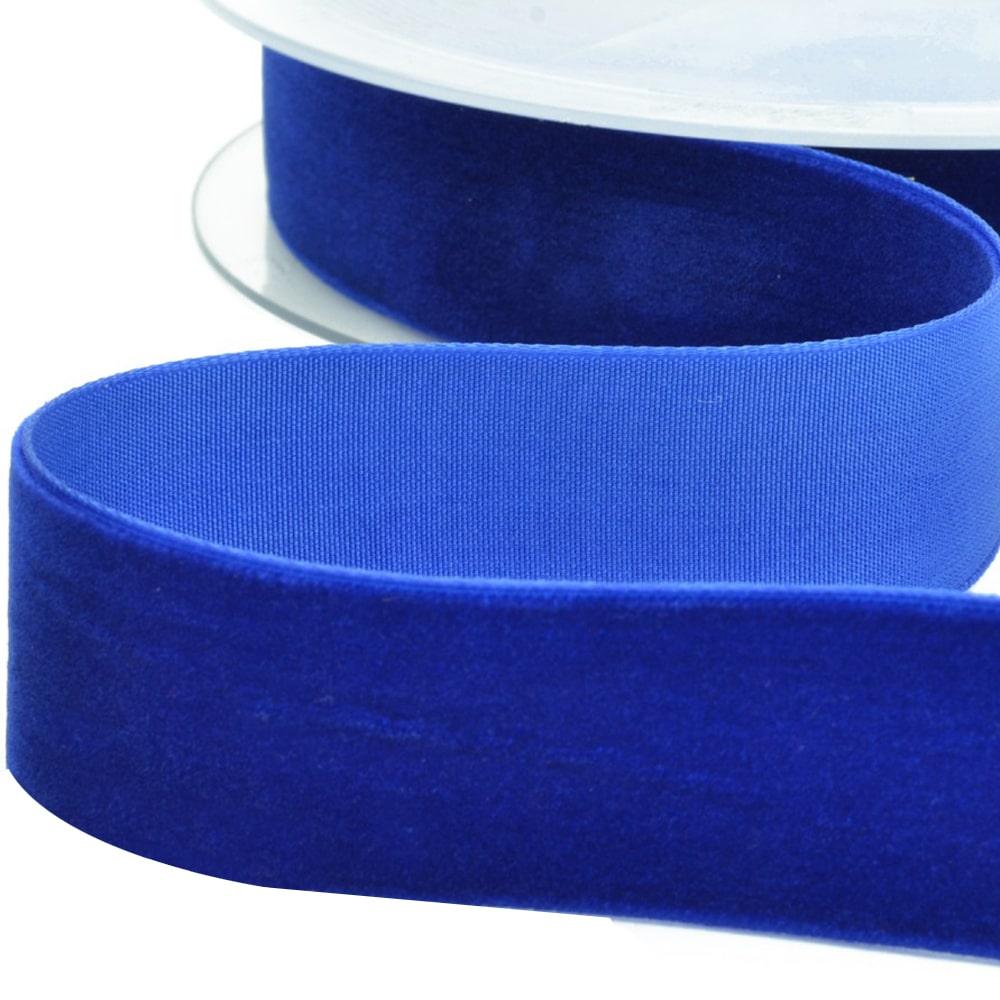 CINTA TERCIOPELO 25 MM azul azafata