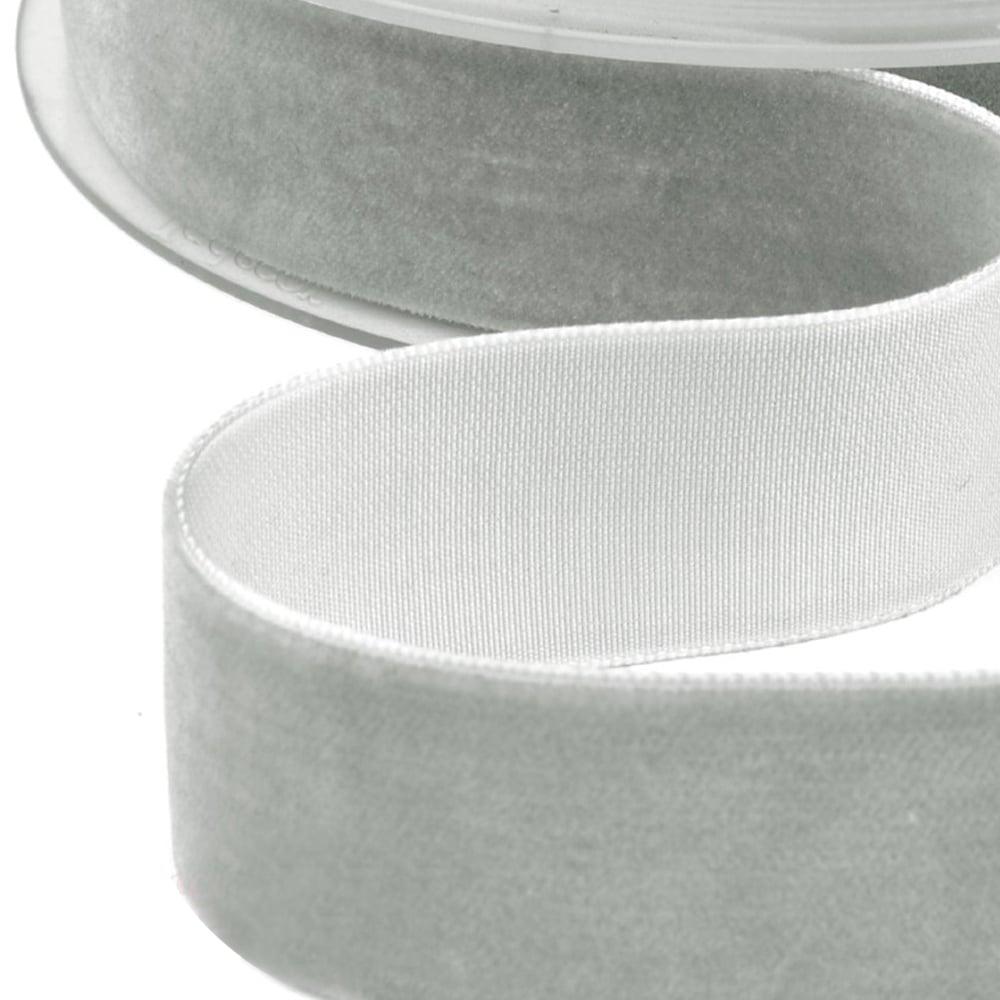 CINTA TERCIOPELO 25 MM gris