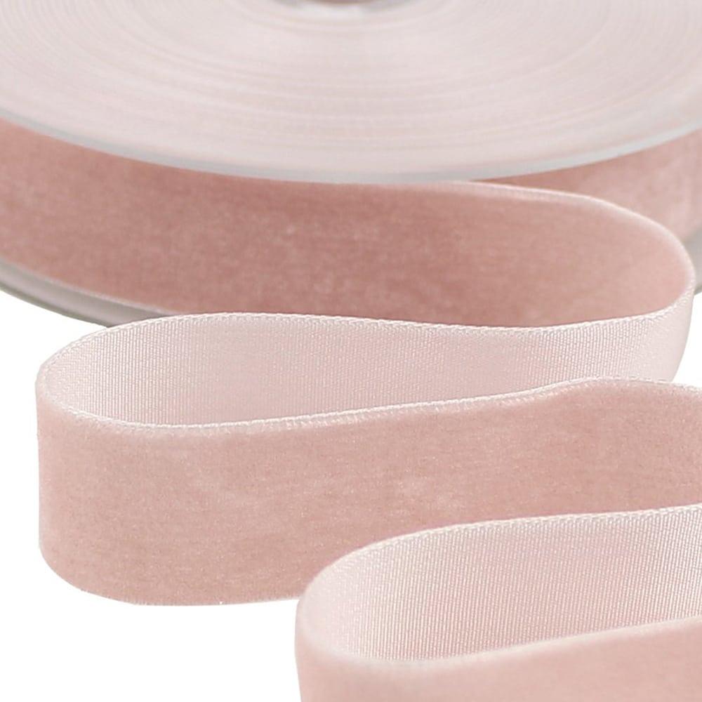 CINTA TERCIOPELO 25 MM rosa nude