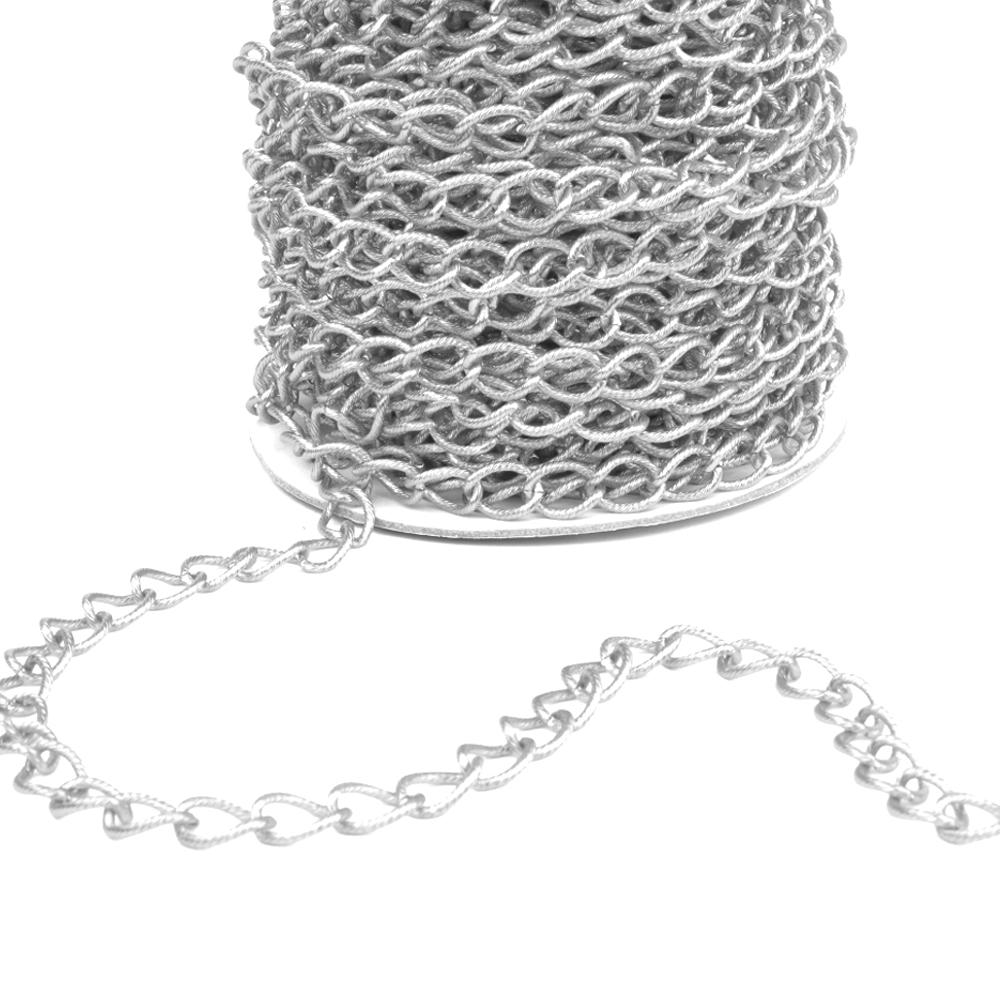 Cadena aluminio aros plata