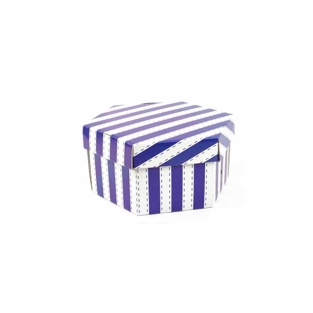 Caja Rayas Azules 20x12cm