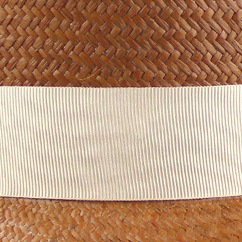 Canotier Paja Toquilla marrón y beige
