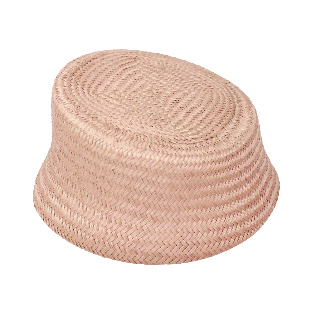 Casquete París Buntal rosa nude