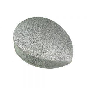 Casquete sinamay seda 19X15X5 CM gris plata