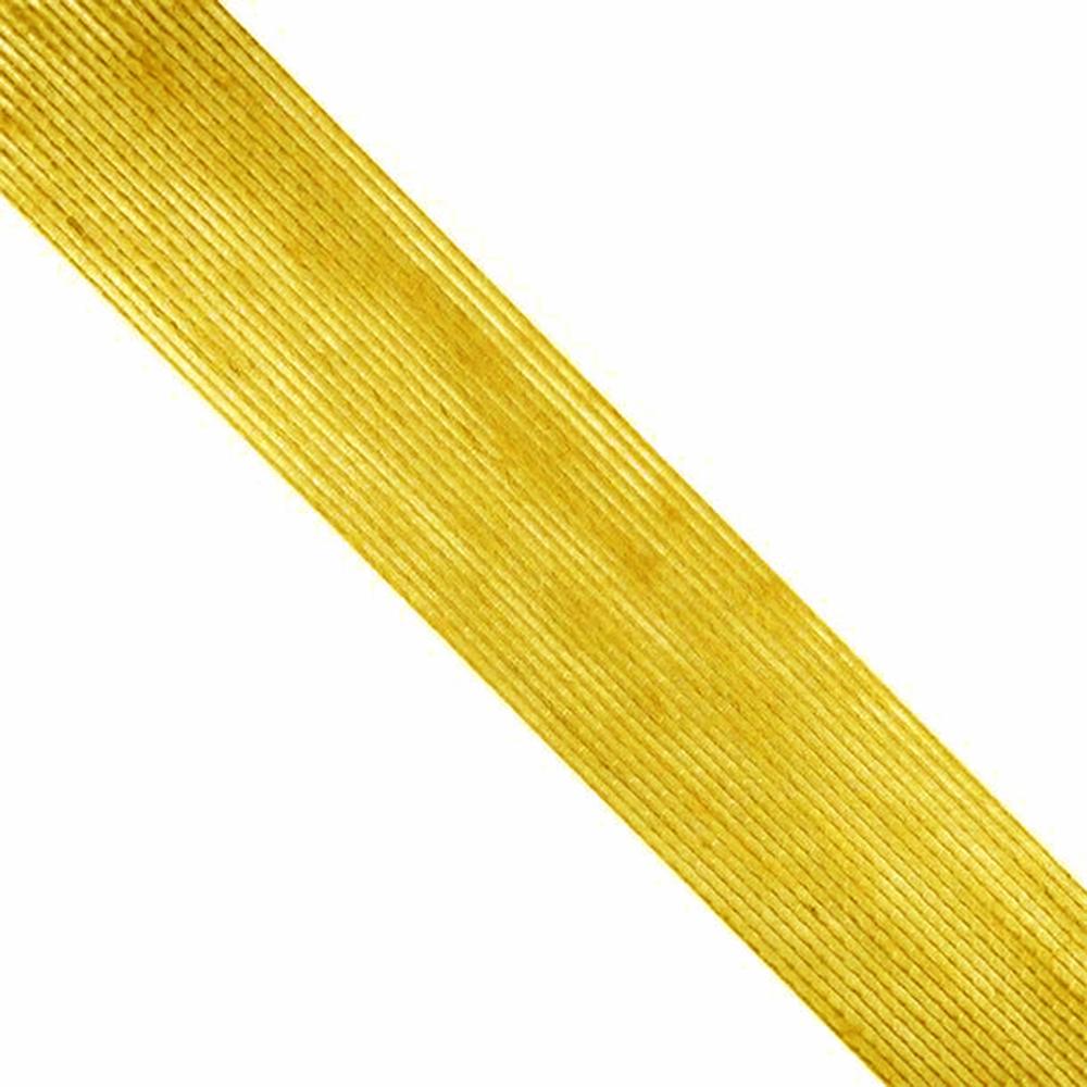 Cinta de Yute 6 cm dorado
