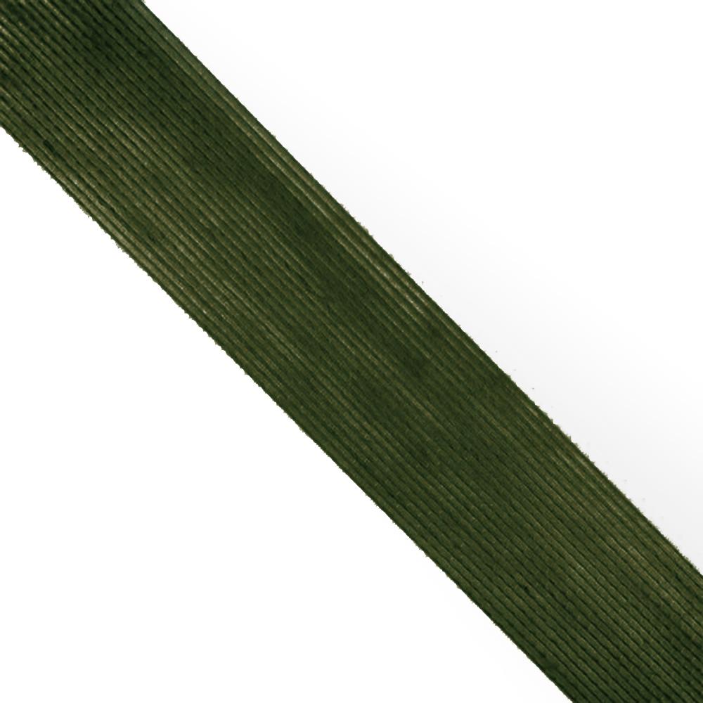 Cinta de Yute 6 cm verde oliva