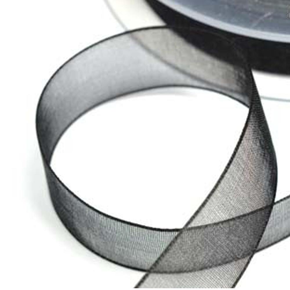Cinta organdí 15 mm negro