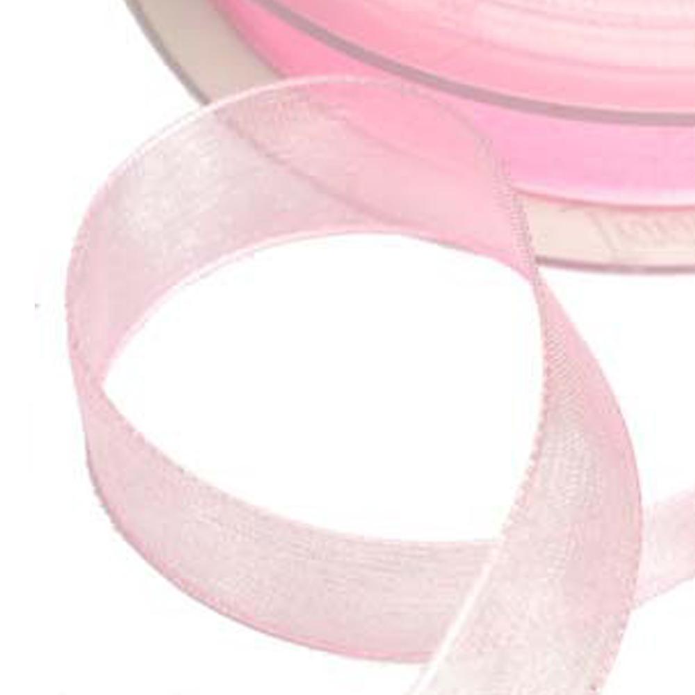 Cinta organdí 15 mm rosa palo