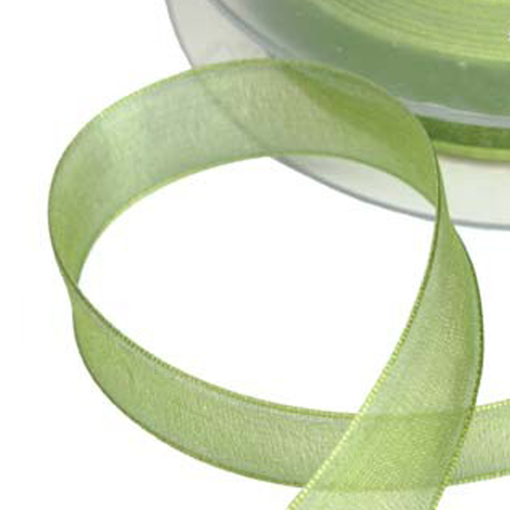 Cinta organdí 15 mm verde
