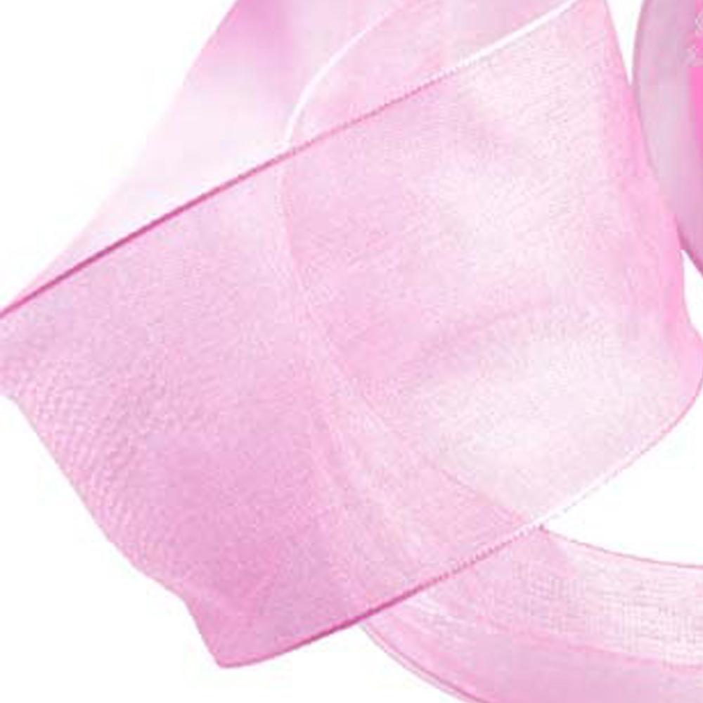 Cinta organdí 38 mm rosa