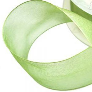 Cinta organdí 38 mm verde