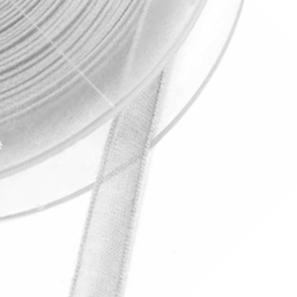 Cinta organdí 7 mm gris plata