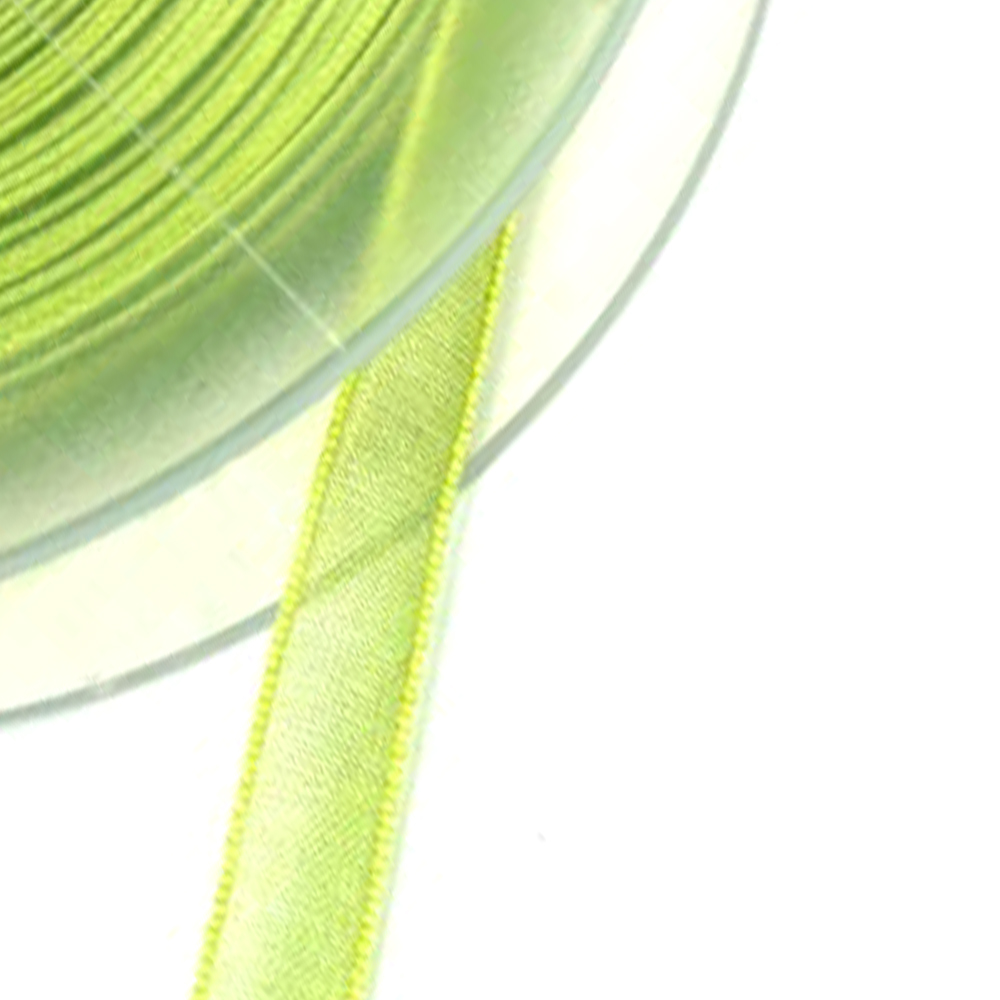 Cinta organdí 7 mm verde