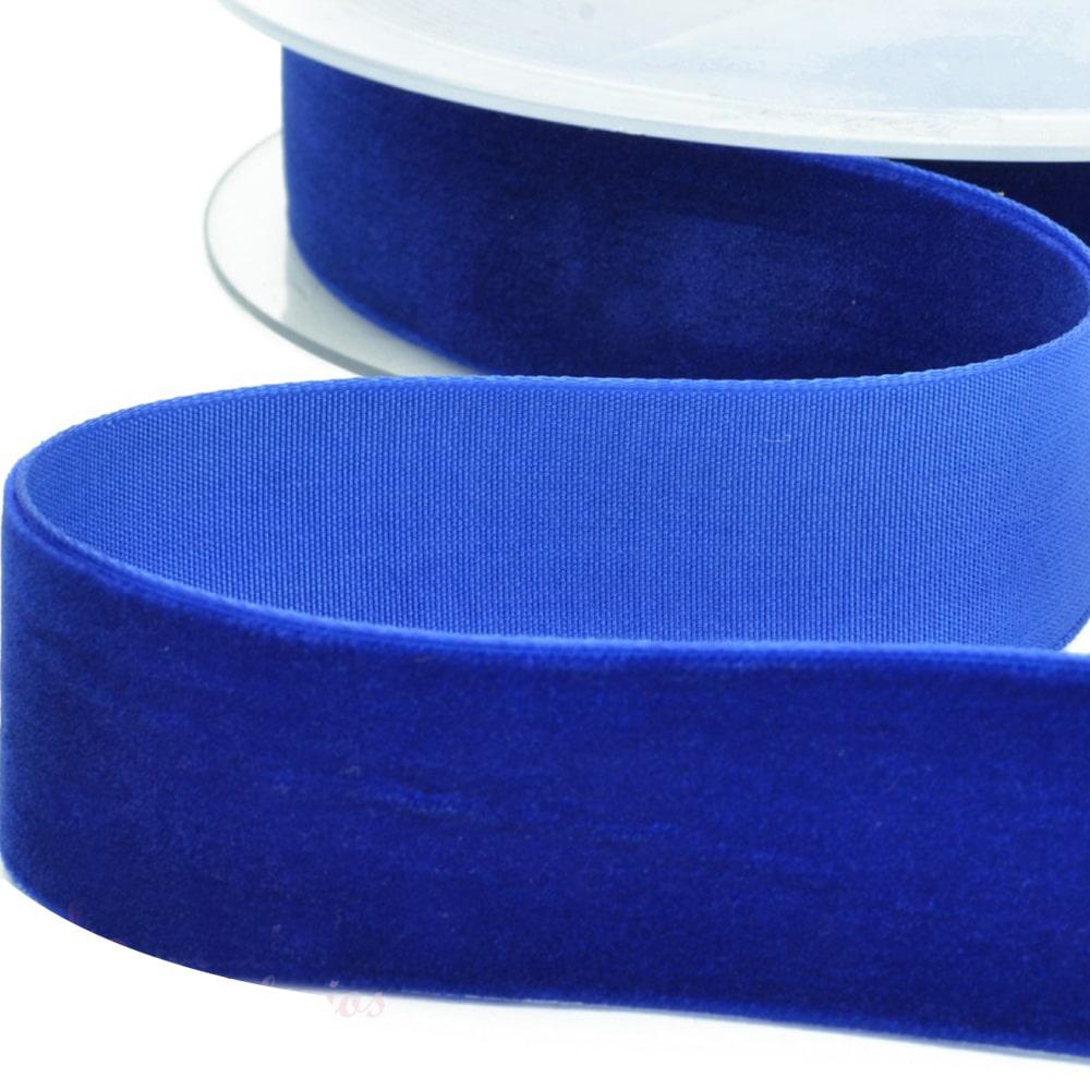Cinta terciopelo 38 mm azul azafata