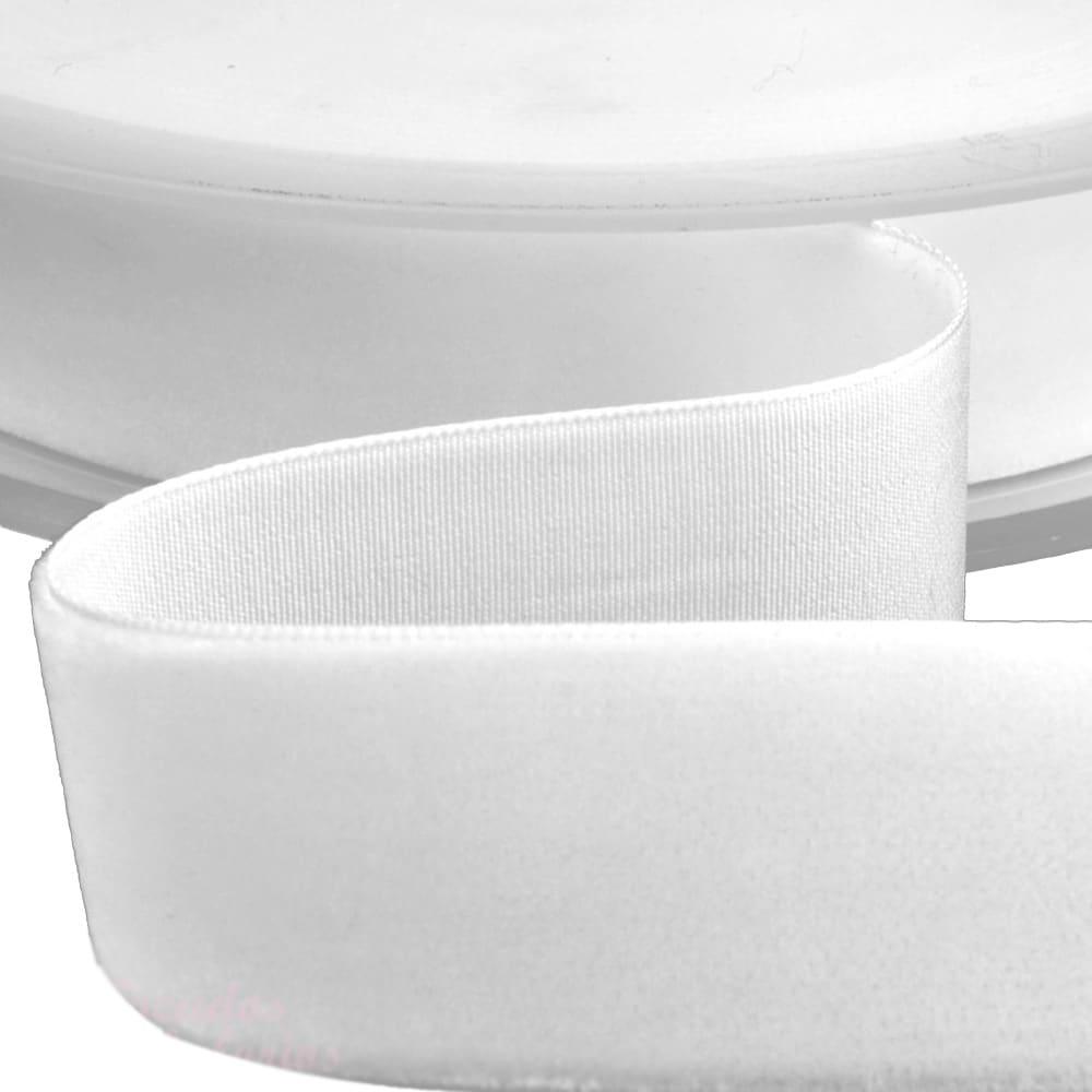 Cinta terciopelo 38 mm blanco