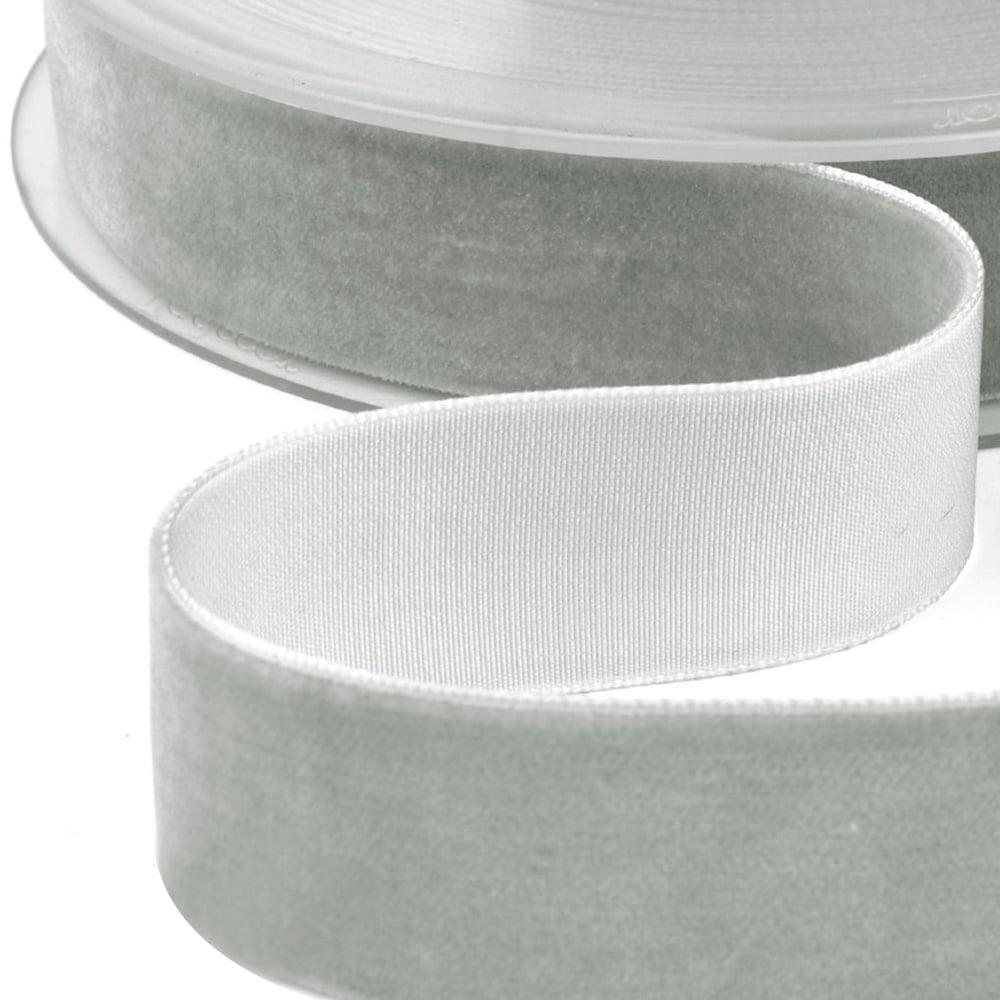 Cinta terciopelo 38 mm gris