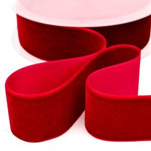 Cinta terciopelo 38 mm rojo