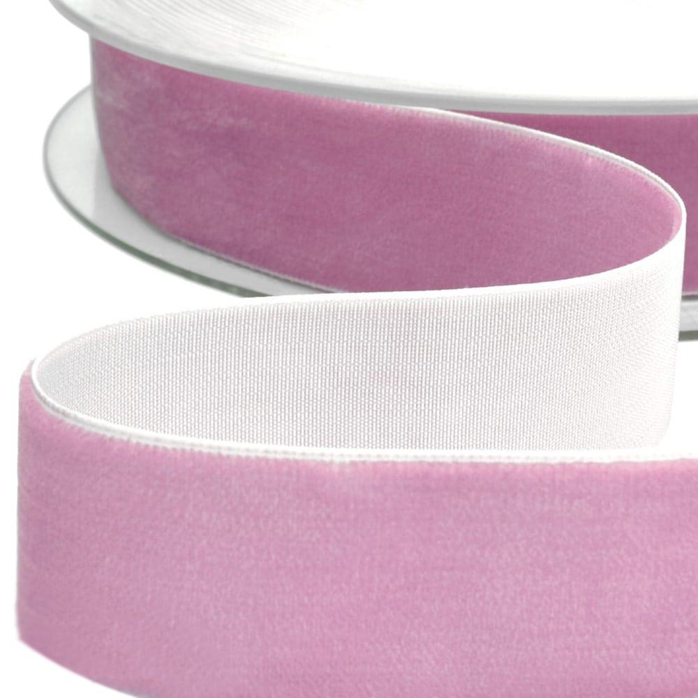 Cinta terciopelo 38 mm rosa nude oscuro