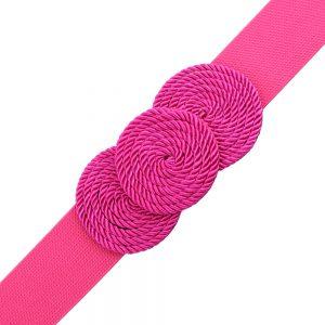 Cinturón de cordón trenzado círculos buganvilla