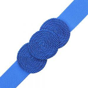 Cinturón de cordón trenzado círculos klein