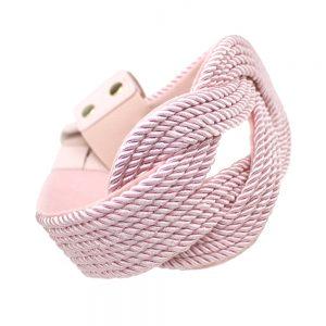 Cinturón de cordón trenzado rosa