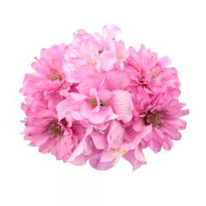 Conjunto floral brunilda rosa