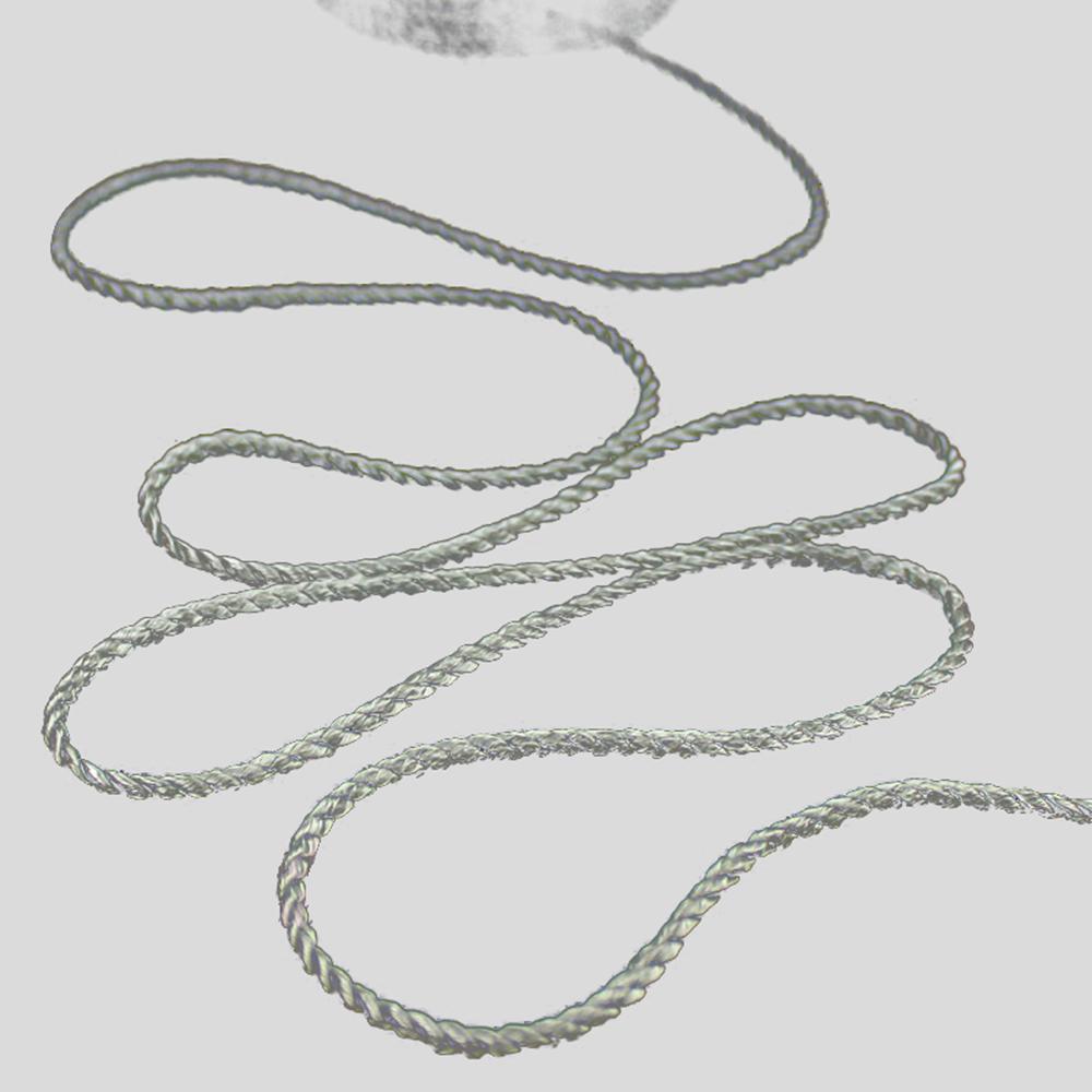 Cordón trenzado 0 3 plata