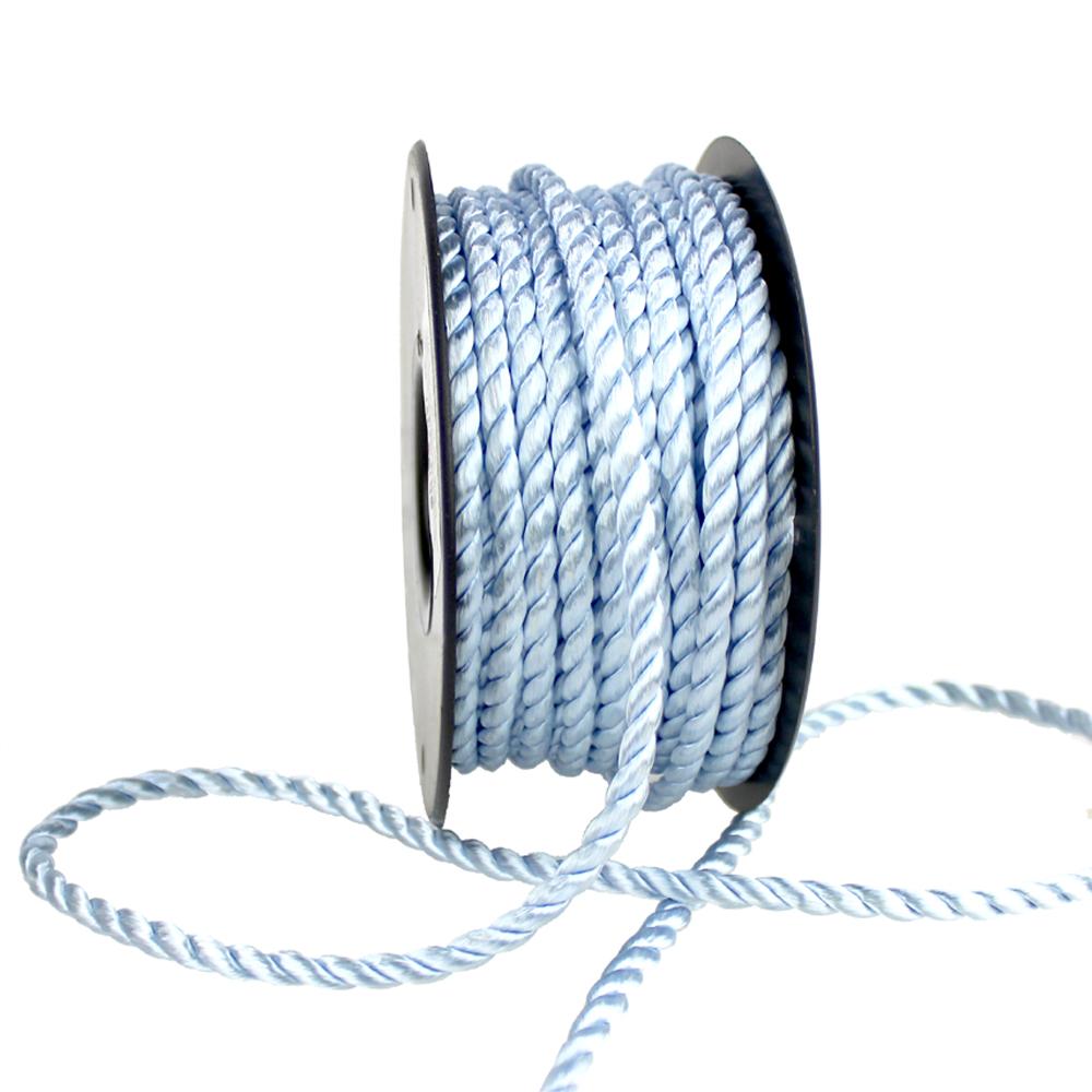 Cordón trenzado seda 5 mm celeste