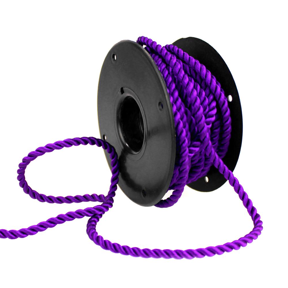 Cordón trenzado seda 5 mm morado
