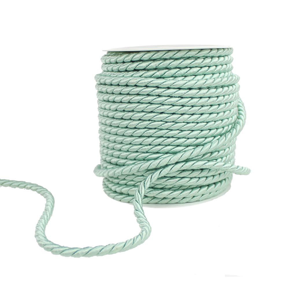 Cordón trenzado seda 5 mm verde agua