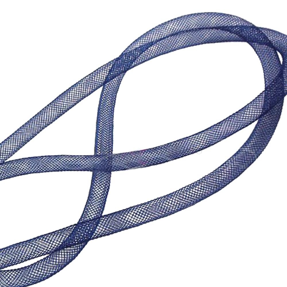 Crin tubular 8mm azul marino