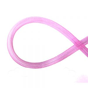 Crin tubular 8mm rosa