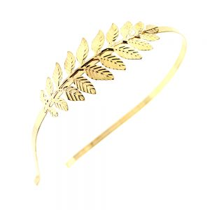 Diadema con rama de latón oro