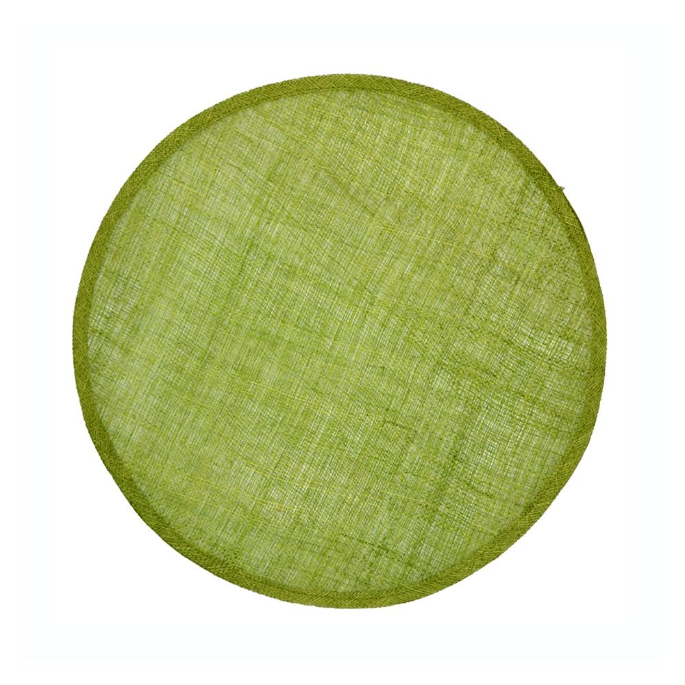 Disco Pamela Sinamay 34 CM verde medio II