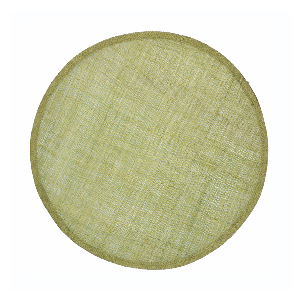 Disco Pamela Sinamay 34 CM verde claro