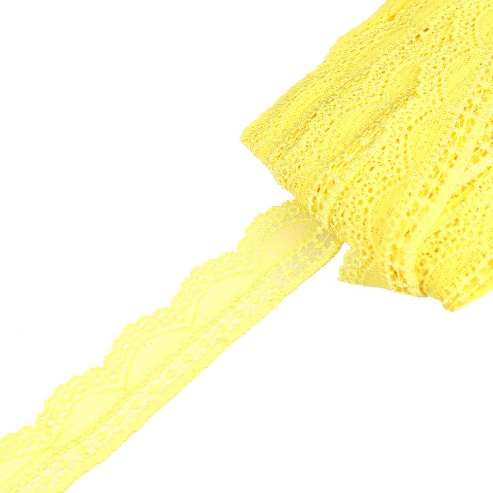 Encaje Nylon elástico amarillo