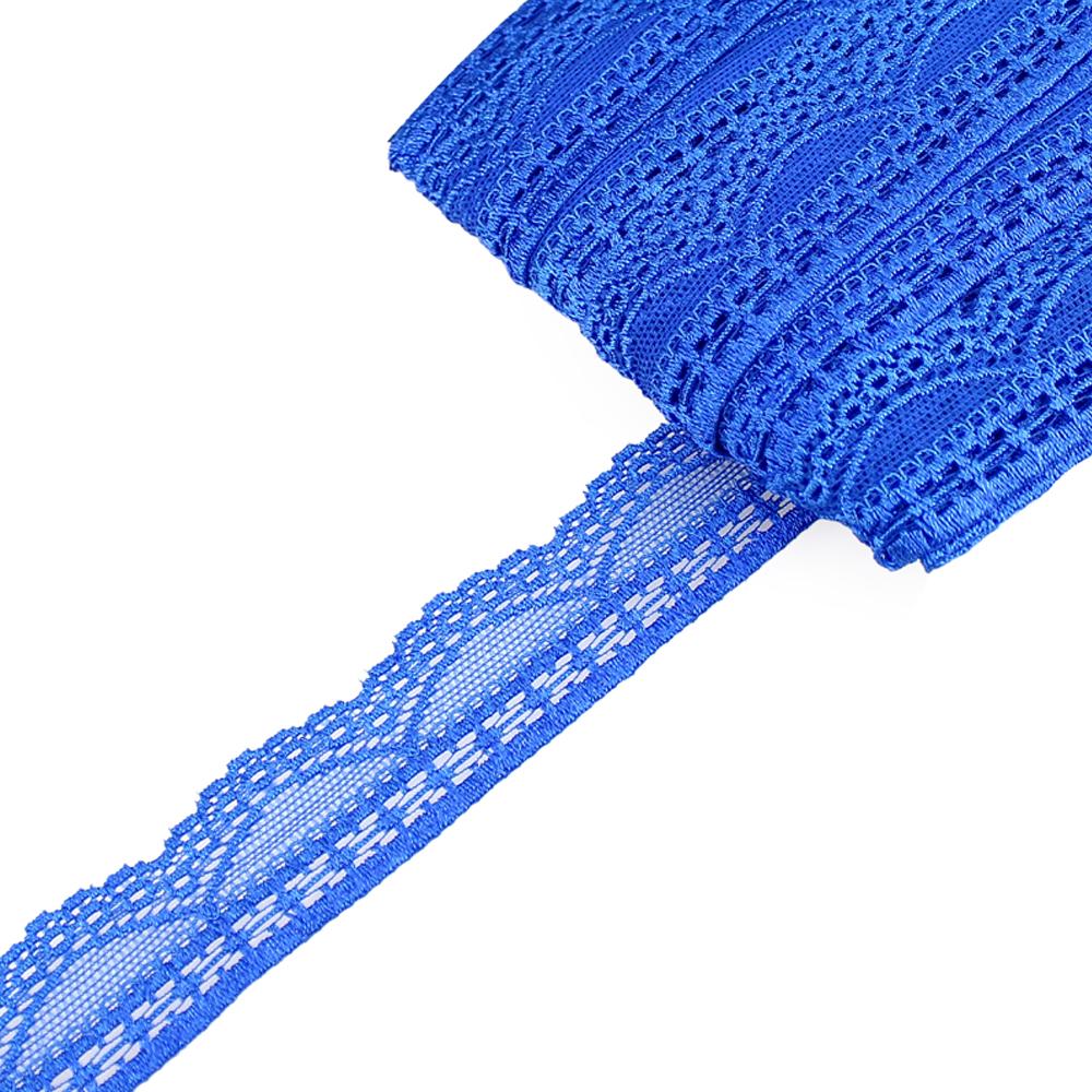 Encaje Nylon elástico azul klein