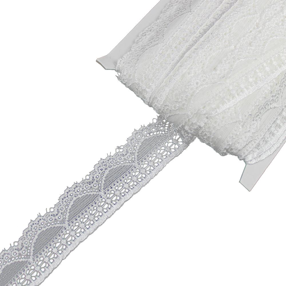 Encaje Nylon elástico blanco