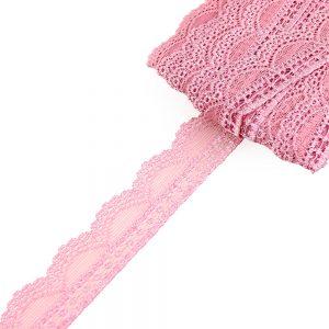 Encaje Nylon elástico rosa nude oscuro