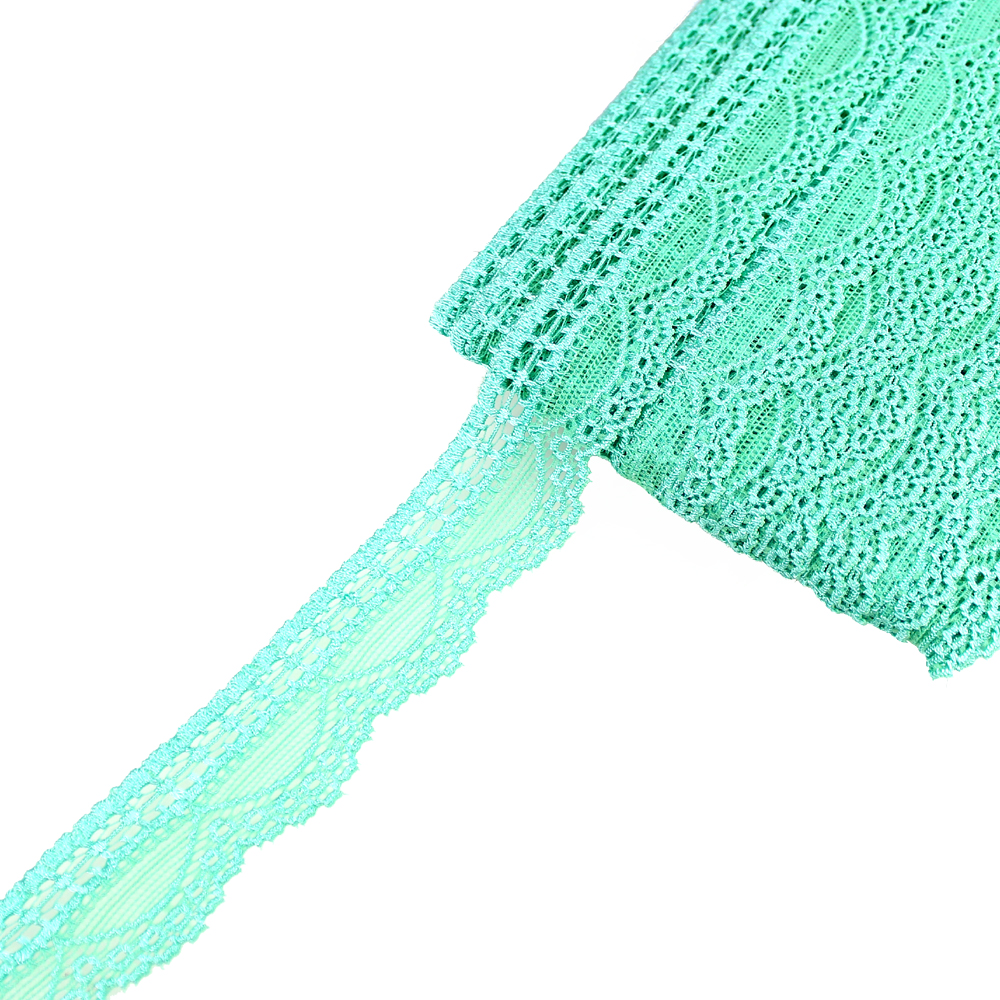 Encaje Nylon elástico verde agua