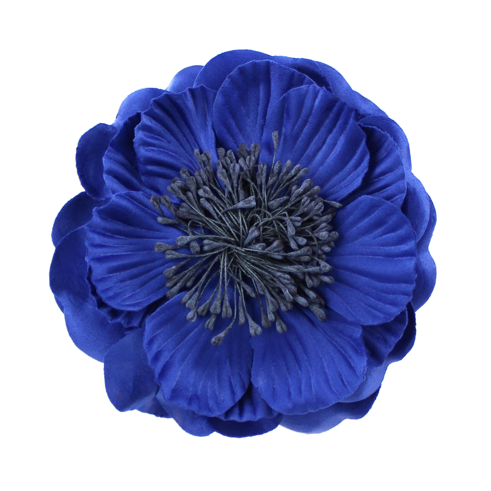 FLOR PAVONA azul oscuro