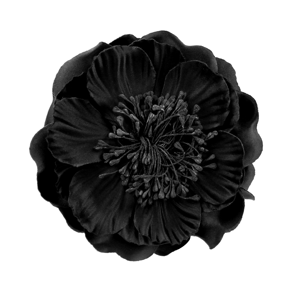FLOR PAVONA negro